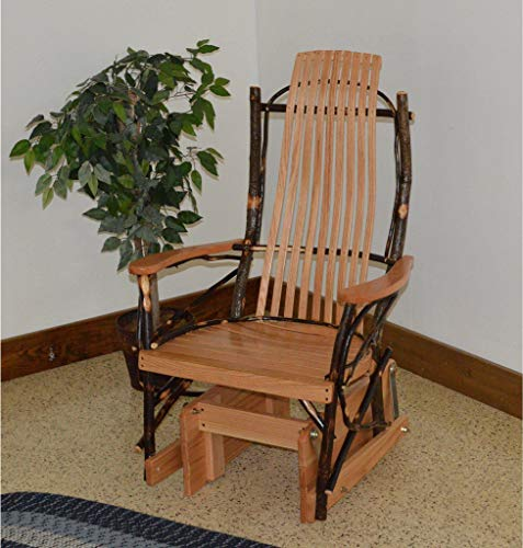 A & L Furniture Co. Amish Bentwood Hickory Glider Rocker - Lead TIME to Ship 3 Weeks