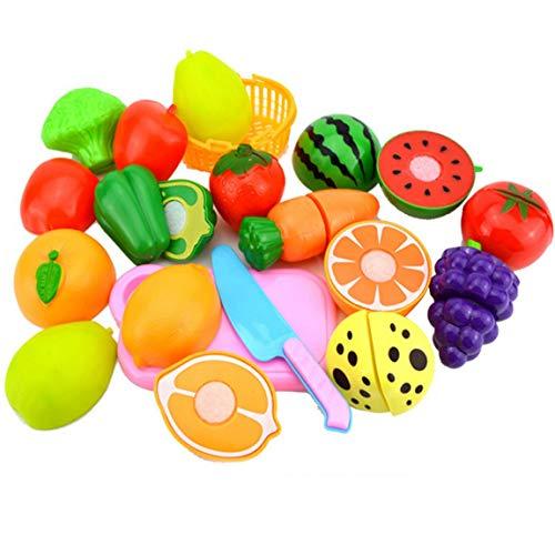 gfjfghfjfh Set da Taglio per Frutta Gioco di Ruolo Fai Finta di Cibo Riutilizzabile per Frutta e Verdura - Misto Multicolore