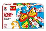 Marabu 0304000000001 - Kids Set 6x 80 ml Bastelfarbe für