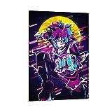 DRAGON VINES Póster abstracto de Anime My Hero Academia Idku Midoriya Deku para colgar, 40 x 60 cm