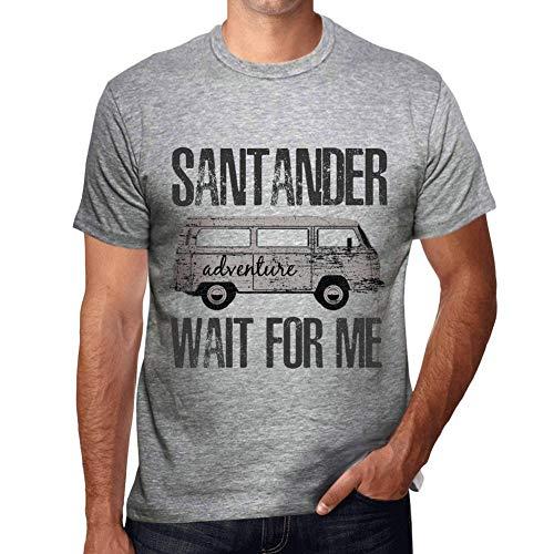 One in the City Hombre Camiseta Vintage T-Shirt Gráfico Santander Wait For Me Gris Moteado
