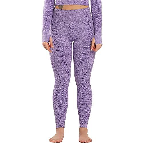 QTJY Leggings sin Costuras, Pantalones de Yoga de Moda para Mujeres, Ejercicios de flexión de Brazos en el Gimnasio, Leggings de Cintura Alta para Levantar glúteos BS