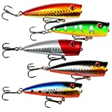 A-SZCXTOP Fishing Lures Topwater Floating Popper Poper Lure Hooks Bait Bass Crankbait (Type2)