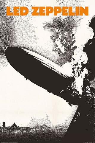 Led Zeppelin - Cover - Musik Classic Rock Band Poster Plakat Druck - Größe 61x91 cm + 1 Ü-Poster der Grösse 61x91,5cm