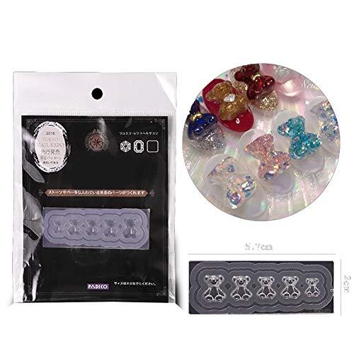Rovive - Molde de silicona 3D para decoración de uñas, diseño de placa de cristal