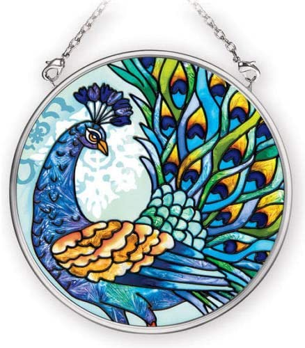 Stained Glass Suncatcher Max 79% OFF True Color Round Ultra-Cheap Deals 3.5
