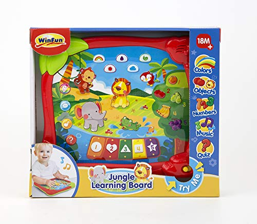 winfun- Juguete Musical para Niños, Color Naranja (CPA Toy Group 7302513)