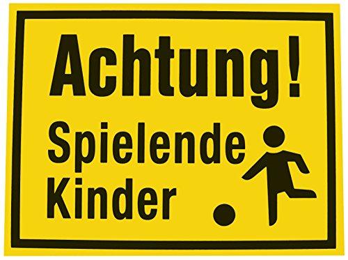 Alpertec 48071530 Schild Achtung spielende Kinder gelb-schwarz