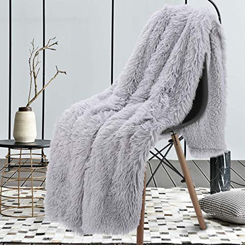 junovo Super Soft Shaggy Longfur Faux Fur Blanket, Fuzzy...