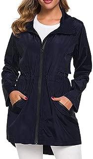 WatFY Jacket Women Warm Coat Windproof Raincoat Overcoat Casual Hooded Jacket Oversize Coat Zipper Outerwear Tops