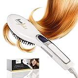 FemJolie Hair Straightening Brush Best Straightener for Beauty Styling (w/Velvet Pouch, Glove) 40W...