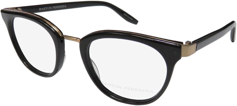 Barton Perreira Paulina Womens Ladies Designer Fullrim Eyeglasses Eyewear (4822140, Black   gold)