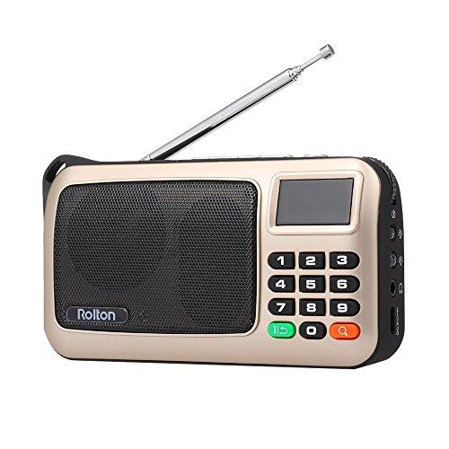 Docooler Rolton W405 FM Radio Digital Portátil USB con Cabl