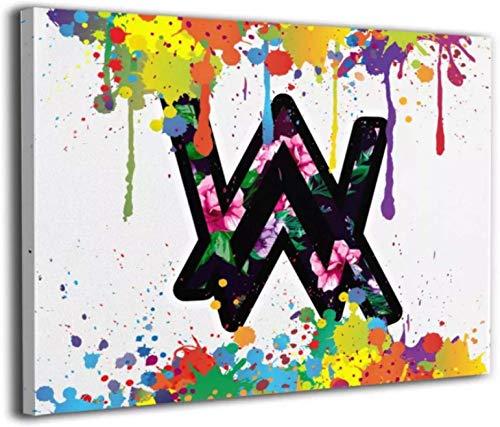 YaShengZhuangShi Lienzo de 50x70 cm sin Marco, Carteles e Impresiones Abstractos de Alan Walker, Lienzo Impreso, Arte de Pared para Dormitorio, Sala de Estar, decoración del hogar