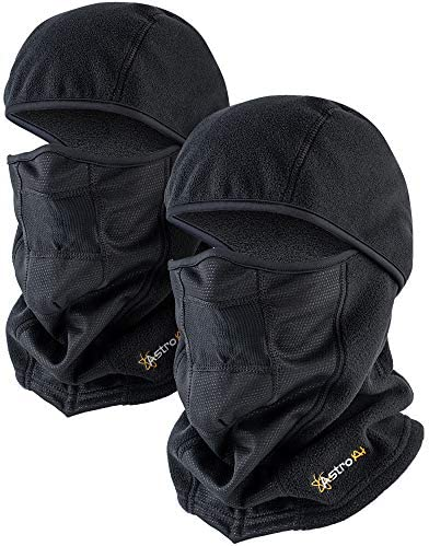 AstroAI Balaclava 2 Pack Ski Mask Winter Face Mask for Cold Weather Windproof Breathable for product image