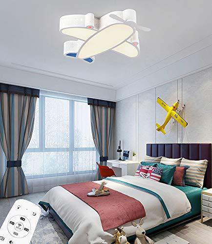 LED 26W Regulable Plafon de Techo con Control Remoto Niña Niño Dormitorio Lámpara de Techo Acrílico Pantalla de Lámpara Aeronave Metal Luz Interior para Cuarto de los Niños Jardín de Infancia