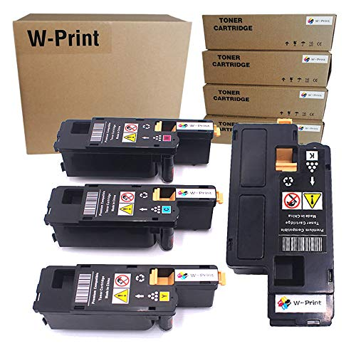 Price comparison product image Remanufactured Toner Cartridge Replacement for Xerox WorkCentre 6027 6025 Phaser 6022 6020 Toner (Black 106R02759,  Cyan 106R02756, Magenta 106R02757, Yellow 106R02758)-4 Pack by W-Print