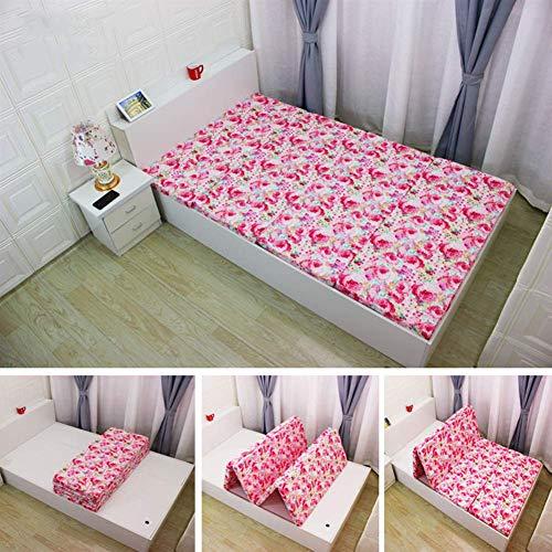 AOLI Soft Not-Slip Thicken Japanese Futon Mattress, Japanese Floor Mattress Folding Tatami Floor Mat Portable Camping Mattress Kids Sleeping Pad Floor Lounger Couch Bed, Thickness:5Cm,A,70X190Cm,E,90