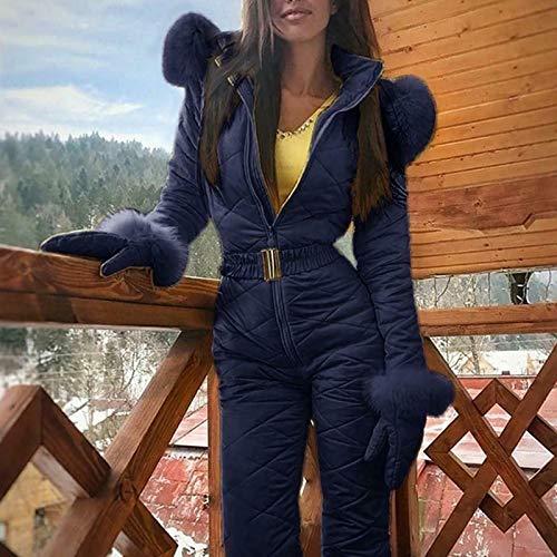 Genlesh Traje de esquí para Mujer, Traje de esquí cálido para Invierno para Mujer...