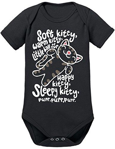 TShirt-People Soft Kitty Purr Purr Purr Baby Body 80 Schwarz