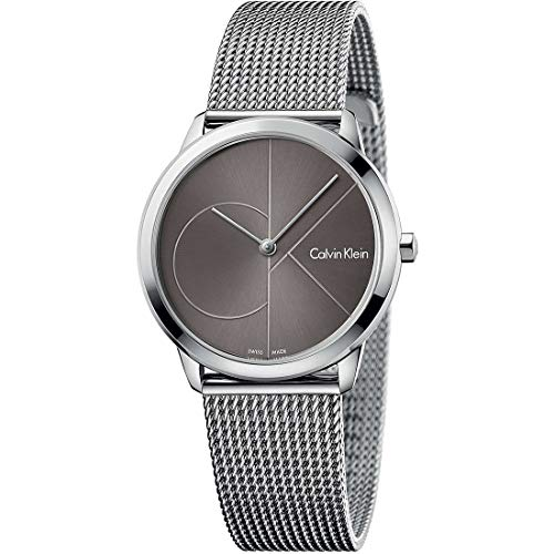 Calvin Klein Herren Analog Quarz Uhr mit Edelstahl Armband K3M22123