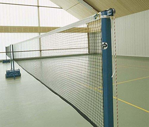 Huck Badminton Turniernetz Champion, 2 Netze auf 15 m Kevlarseil