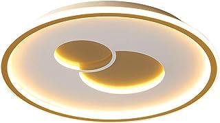 Comedor LED Moderno Circulares Dormitorio Dorado Acrílico Metal Iluminación De Techo Regulable Remoto Luz De Techo Sala Le...