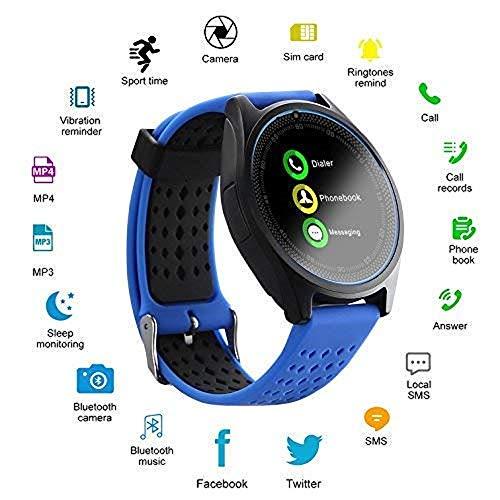 Avika Bluetooth Smart Watch (Blue)