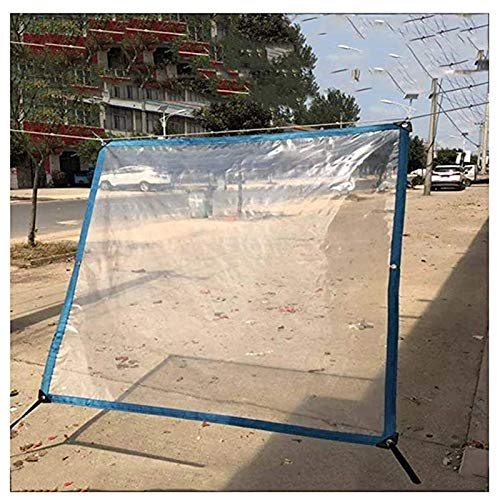 SHIJINHAO Tarpaulin Waterproof Tarp Transparent Plastic Tear Proof Heavy Duty With Grommets And Reinforced Edges Outdoor Furniture Cover, 21 Sizes (Color : Clear, Size : 3x6m)