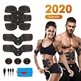 Abs Stimulator Muscle Toner, Muscle Trainer, Abdominal Toning Belt Ultimate Abs Stimulator for Men Women, Rechargeable Stimulator Abdominal Muscle Toner with 6 Modes & 9 Levels Operation