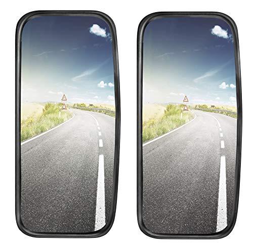 2x LKW, Transporter oder Bus Spiegel universal 42 x 20 cm Größe mit flexibler Halterung SET