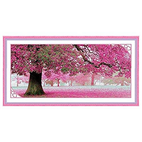 Winomo - Kit de punto de cruz, diseño Sakura, árbol en flor, decorativo
