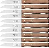 10X Coltello per verdura, piccolo coltello da cucina, coltello spelucchino, 8,5cm mulino a vento Coltello in Legno di Ciliegio