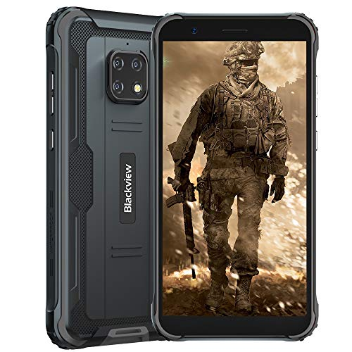 Rugged Smartphone Unlocked Blackview BV4900 Android 10 3GB+32GB Waterproof Cell Phone, 8MP Dual Camera 5.7 inch HD+ Screen 5580mAh Big Battery, Dual SIM 4G Rugged Phone Unlocked US Version -Black