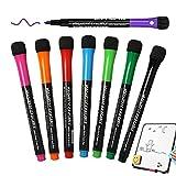 Rotuladores de pizarra blanca con borrador, 8 colores magnéticos pizarras, marcadores borrables para pizarras blancas, de plástico, de cerámica, metal