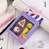 SELLA Cute Ice Cream Rubber Erasers Kawaii Cake Pencil Erasers For Kids Gift School Office Supplies Stationery, 1