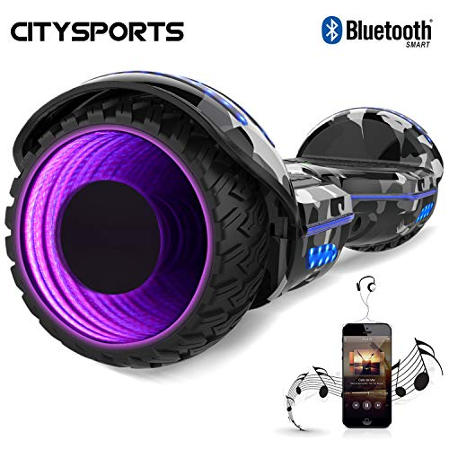 CITYSPORTS Balance Board 6.5 Zoll, Elektro Scooter, Elektro Self-Balancing Smart Scooter 2x350W mit LED Bluetooth*