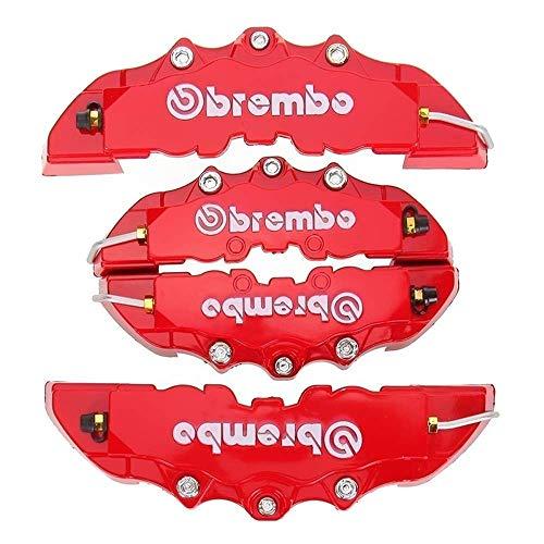 Pinza trasera de plastico ABS cubiertas de camión rojo 3D en relieve cubre coche universal Brem Fit alicates pinza de freno de disco cubiertas delantera y trasera