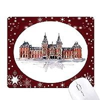 オランダの国立博物館 オフィス用雪ゴムマウスパッド