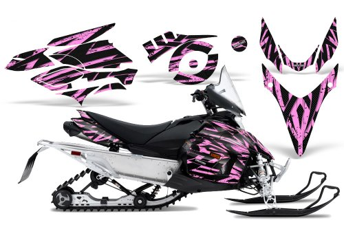 CreatorX Graphics Kit Decals Stickers for Yamaha Phazer Rtx Gt Mtx Snowmobile Sled Tribal Madness Pink Lite