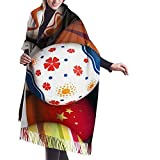 Elaine-Shop Sciarpa da donna Uova di Pasqua personalizzate Buona Pasqua Sciarpa classica a quadri nappa Sciarpa calda autunno e inverno