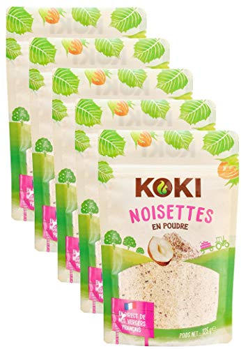 KOKI - Poudre de Noisette - Origine France - Lot de 5x125g