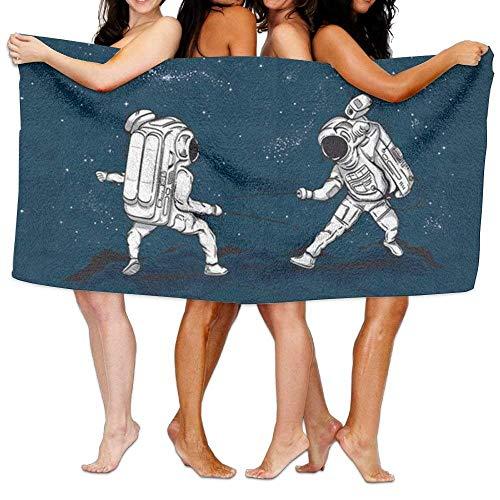 ETGBFHRDH Strandhandtuch The Astronauten Zaun im Weltraum, 203,2 x 33,8 cm, weich, leicht, saugfähig, für Bad, Schwimmbad, Yoga, Pilates, Picknickdecke