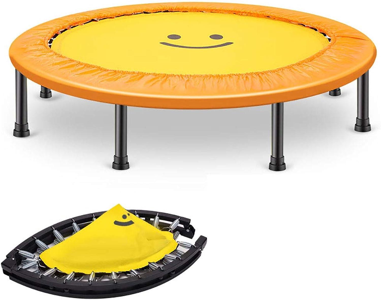 HYYQG Trampoline füR Jumping Fitness, Faltbares Mini Gartentrampolin Outdoor Trampolin Erwachsene randabdeckung Netz stangen Mini Rand Jumping trampolinersatznetz Leiter Kinder