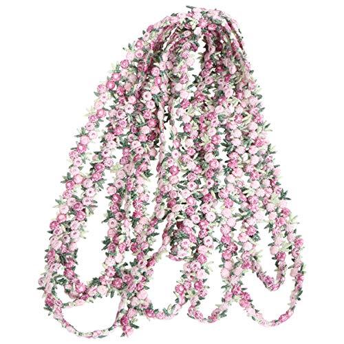 MILISTEN Rosa Flor de Costura de Encaje Cinta de Adorno de Flor Bordado Borde para Coser O Manualidades Decoración Rosa