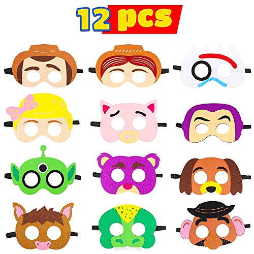 BeYumi Toy 4th Masks Birthday Party Supplies Toys 4th Adventure Party Favors Dress Up Costume Mask for Kids