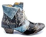 TMA 6106 Damen Stiefeletten Leder schwarz - EUR 41