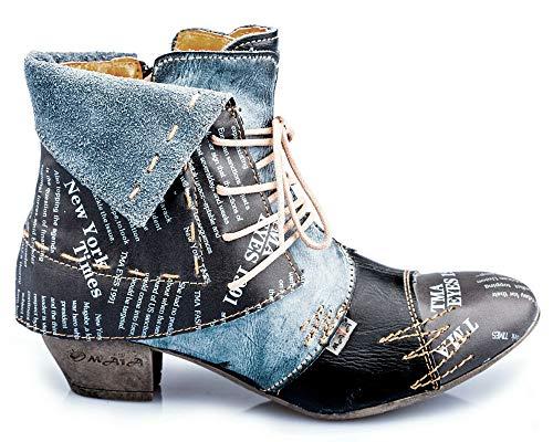 TMA 6106 Damen Stiefeletten Leder schwarz - EUR 39