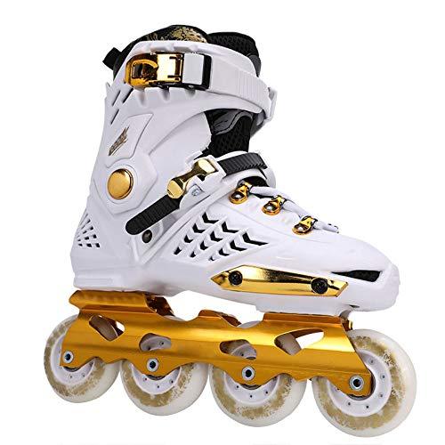Skate-Schuhe Tyrant Gold Erwachsene Schlittschuhe Für Männer Und Frauen Erwachsene Inline-Skates Schuhe Für Männer Und Frauen,White-41
