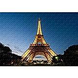 Torre Eiffel Puzzles 500/1000/1500/2000/3000 Piezas, Rompecabezas Clásicos De Madera, Juguetes Educativos para Adultos Y Niños, Regalos Creativos. 0727(Size:5000 Pieces,Color:No Partitions)